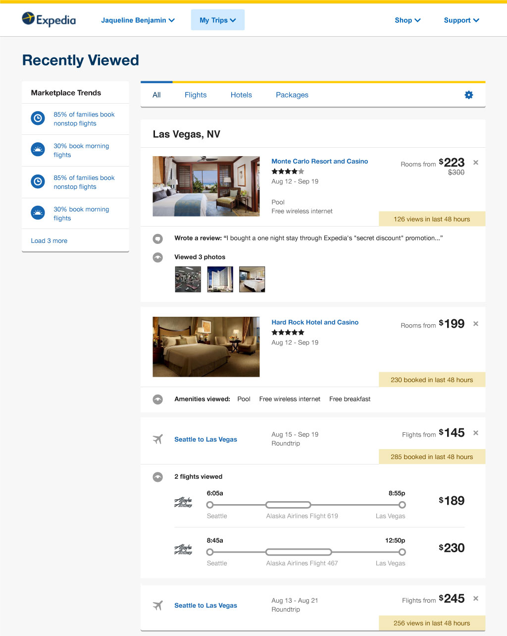 expedia scratchpad page